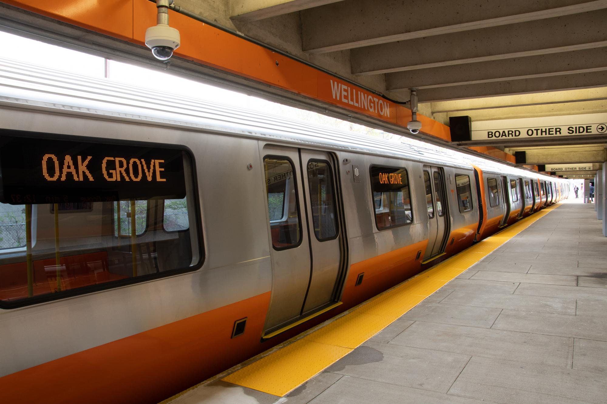 New orange line car being tested at Wellington