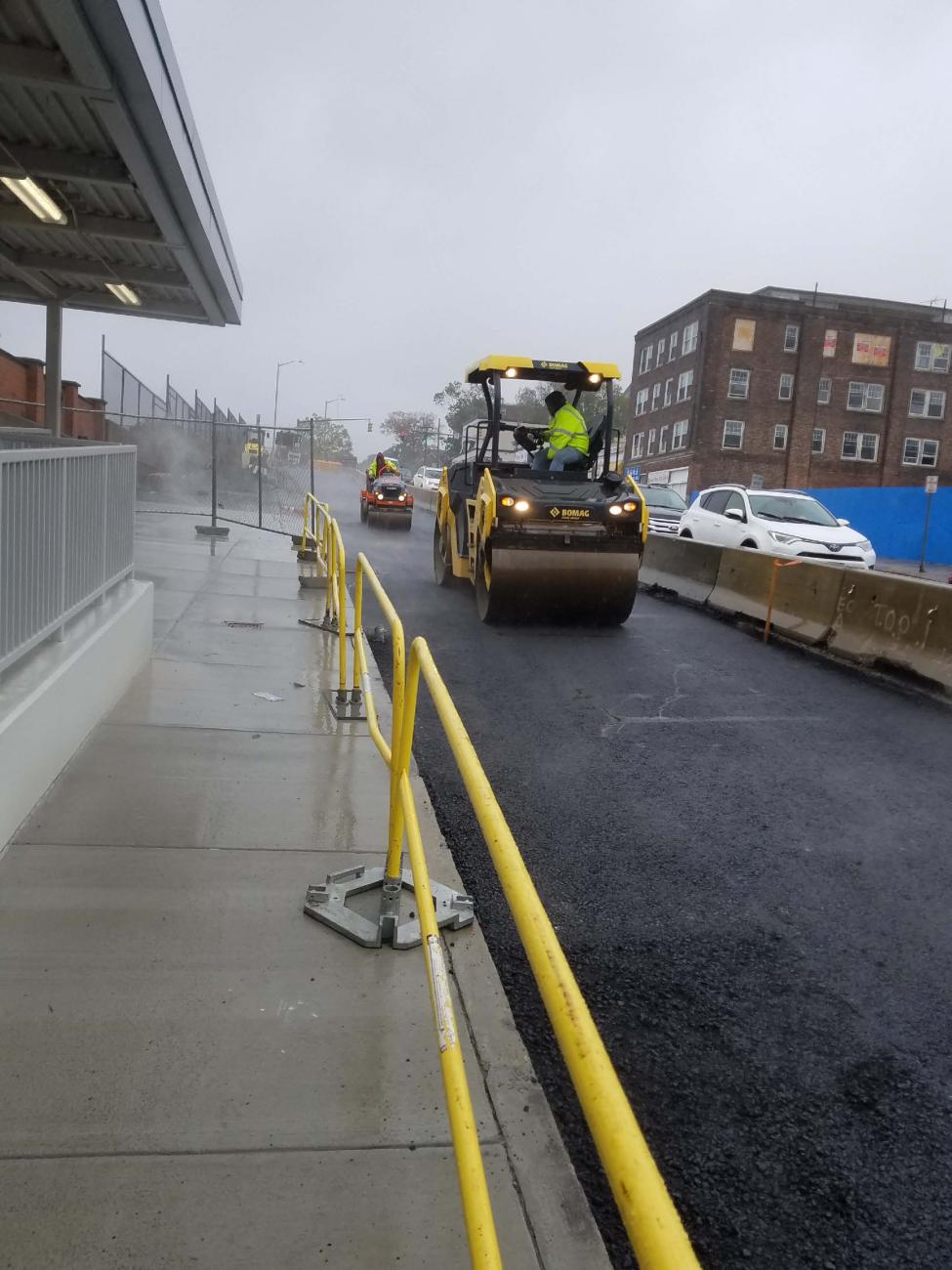 Paving the northbound lane of Newport Ave (October 2019)