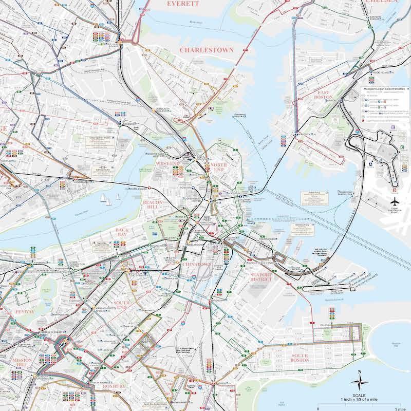 Downtown Boston map thumbnail