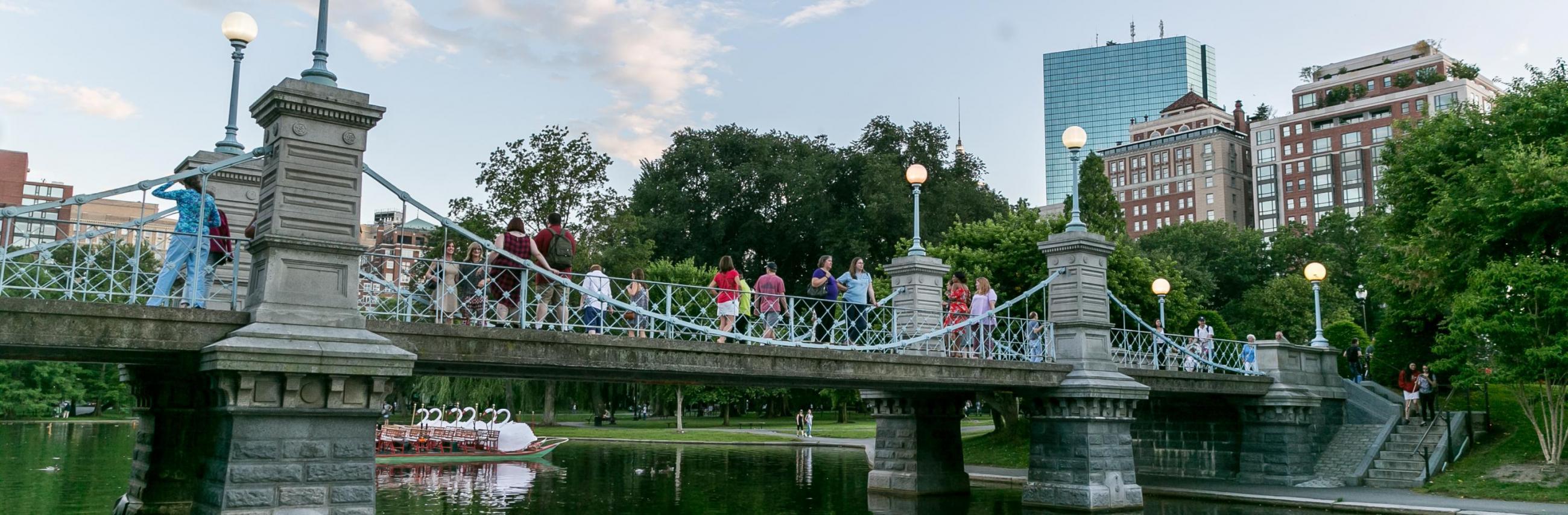 public garden suspension bridge