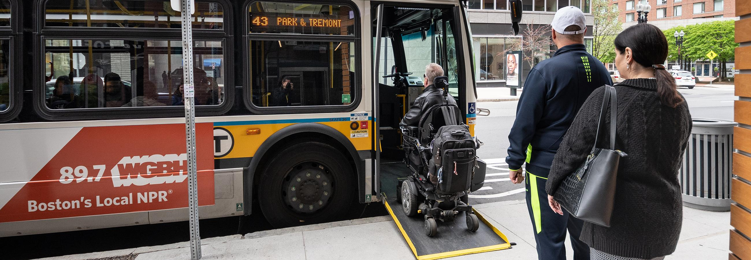 Bus accessibility ramp