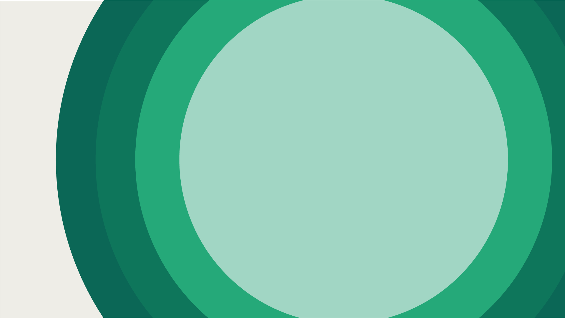 Decorative Graphic with concentric green circles