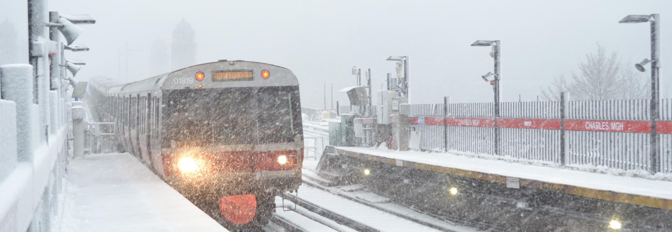 snow on charles/mgh platforms
