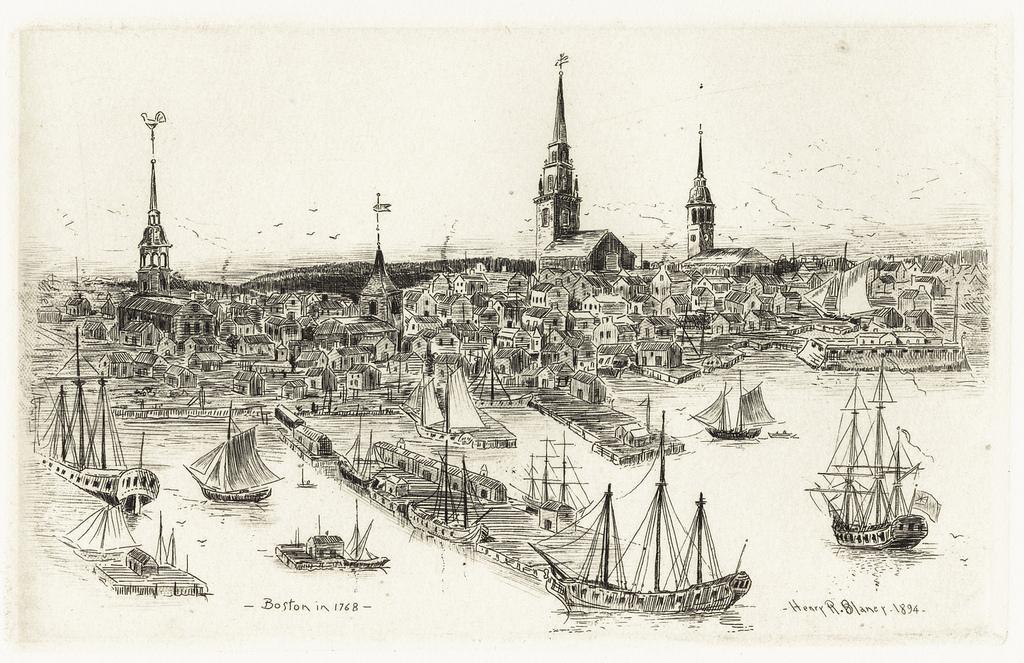 boston harbor 1768