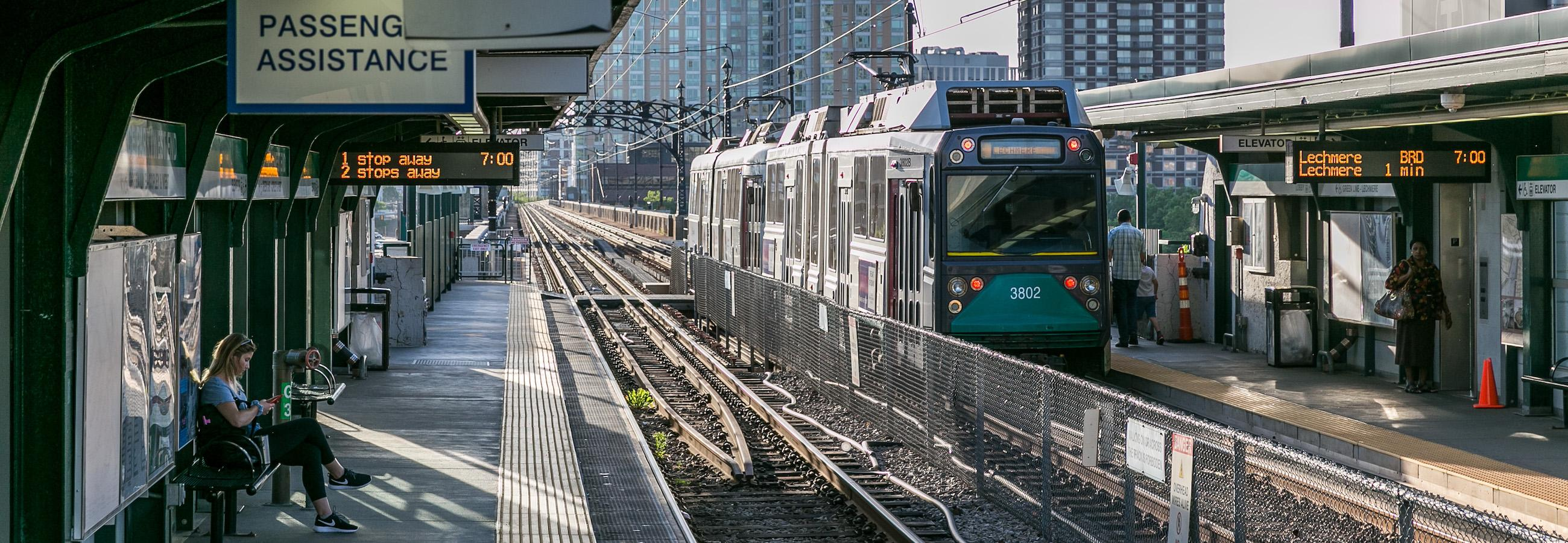 Green Line train in station