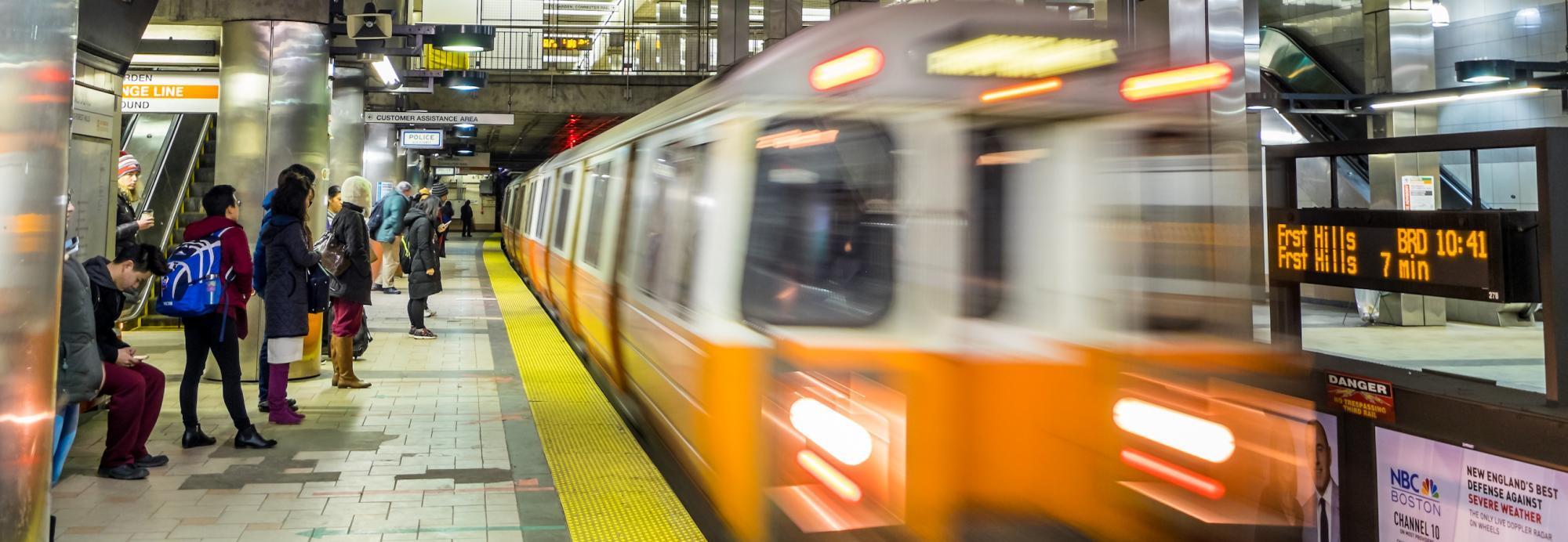 Orange Line in motion