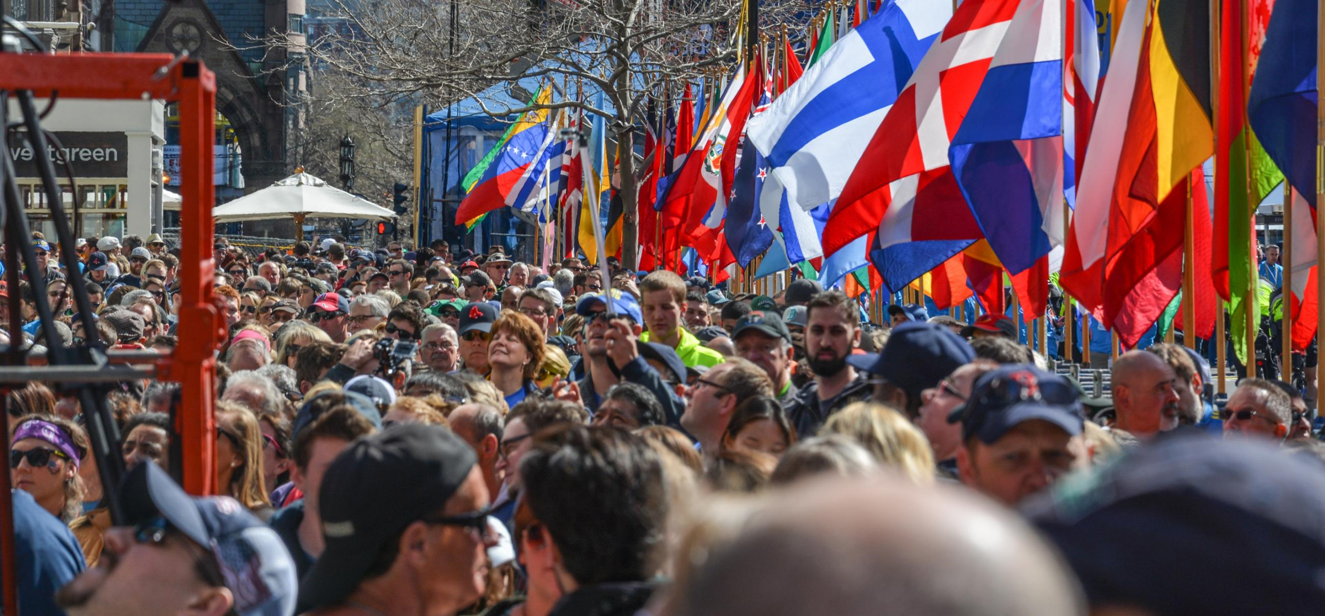 Marathon spectators