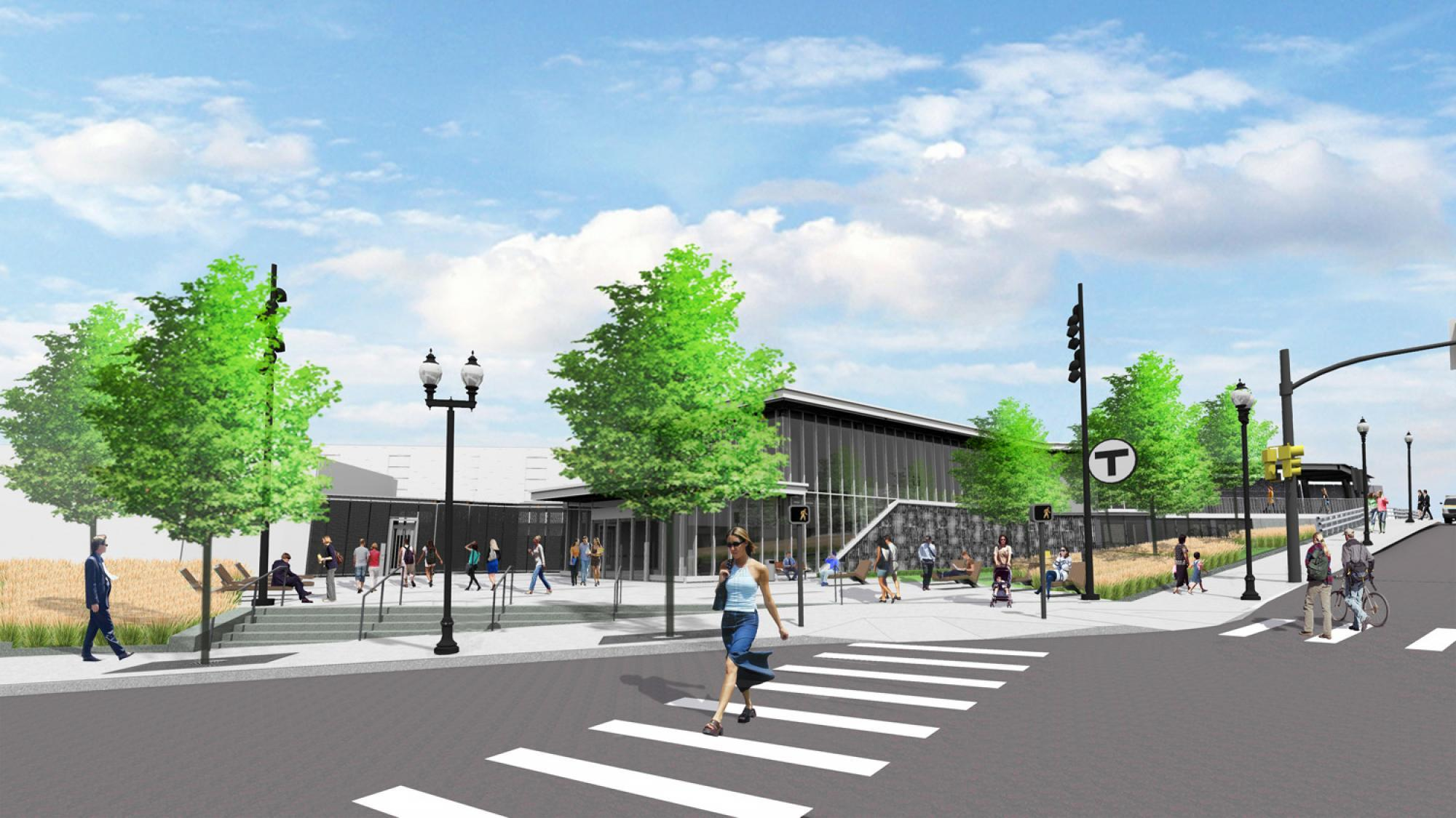 GLX Rendering of Ball Plaza Station