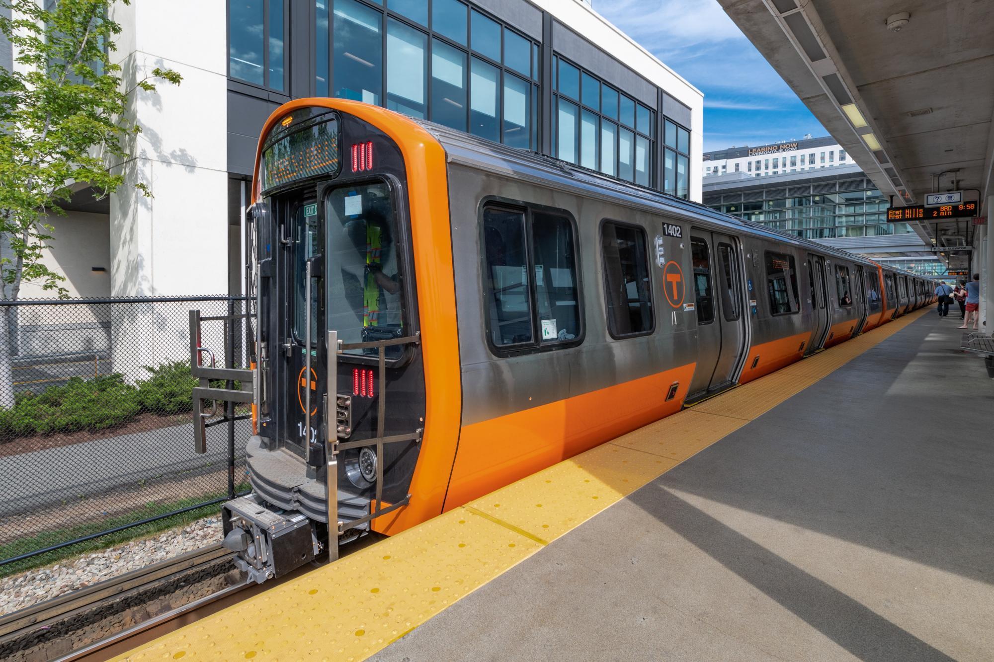 New Orange Line train at Assembly Station