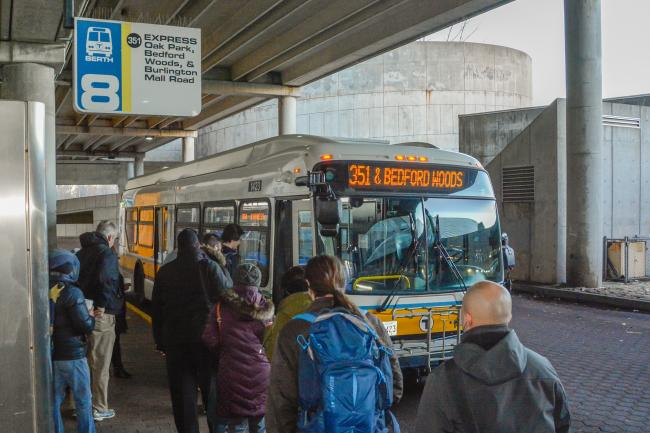 Express bus at stop