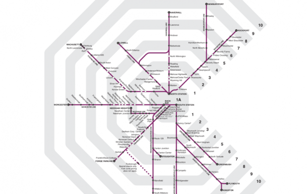 map of commuter rail zones
