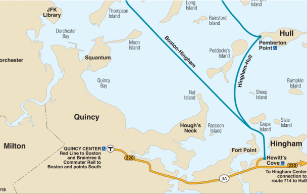 map of mbta ferry routes